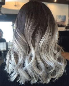 Ash Blonde Balayage + Ombre