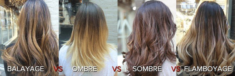 Balayage and Ombre hair colors